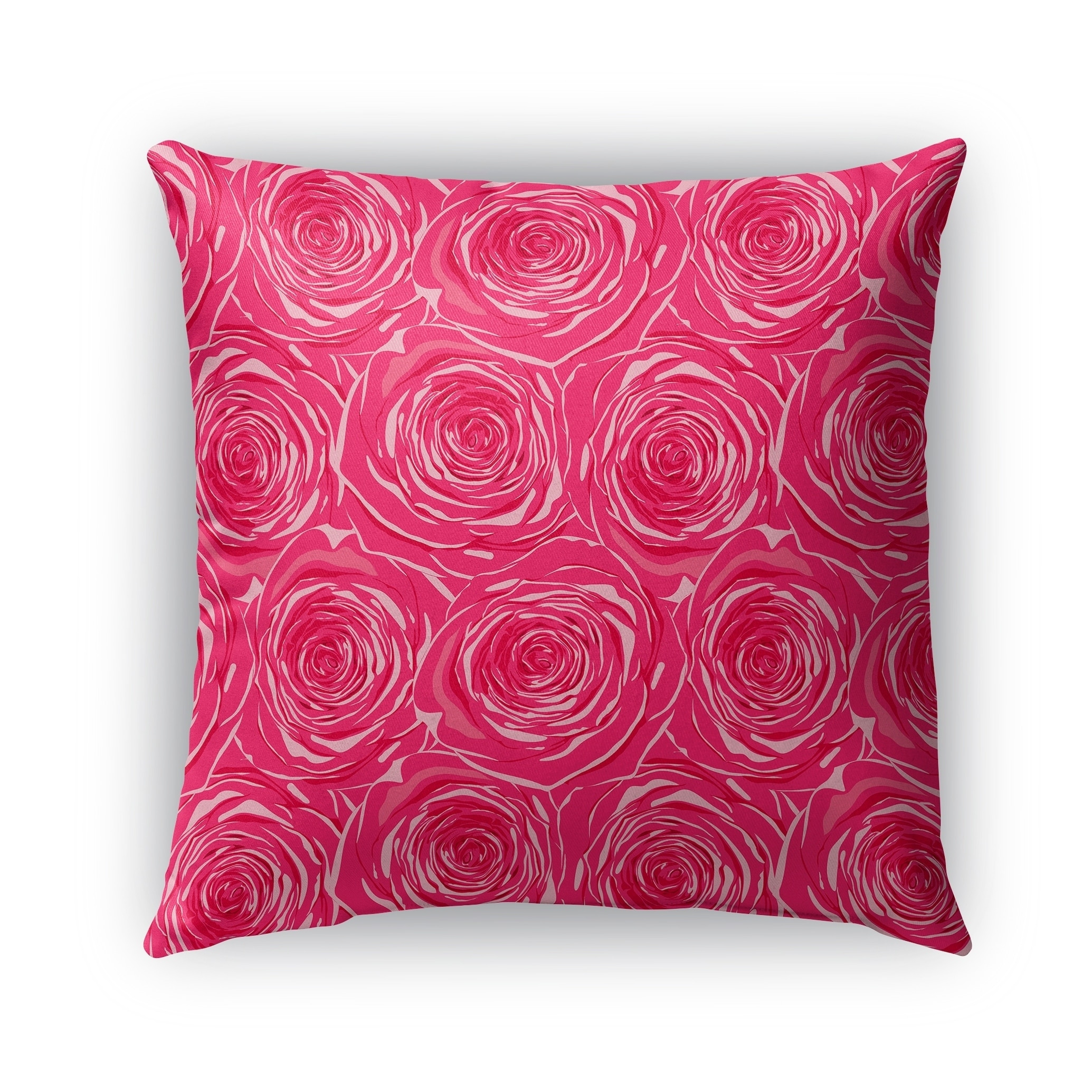 Shop Kavka Designs Pink Bed Of Roses Outdoor Pillow By Kavka