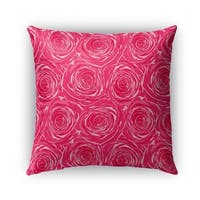 Kavka Designs pink bed of roses outdoor pillow by terri ellis with insert