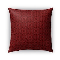 Kavka Designs red; maroon tex outdoor pillow by terri ellis with insert