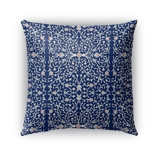 Kavka Designs blue; ivory palma outdoor pillow by Kavka Designs
