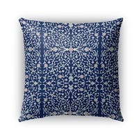 Kavka Designs blue; ivory palma outdoor pillow by terri ellis with insert