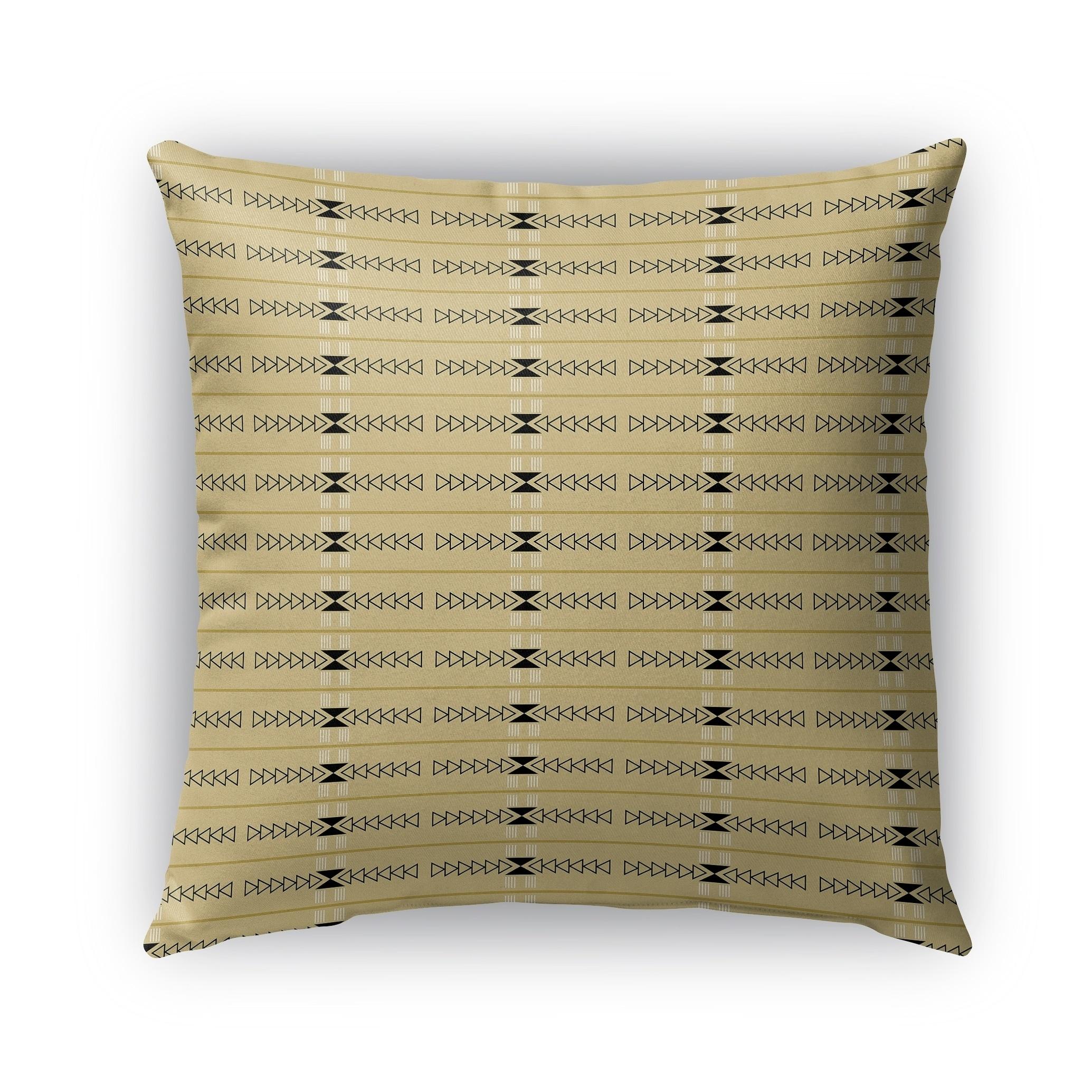 Kavka Designs yellow; grey bait outdoor pillow by terri ellis with insert (18 x 18)