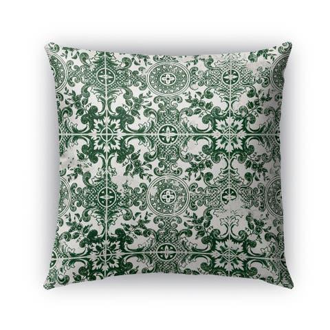 Kavka Designs green green tile outdoor pillow by Kavka Designs