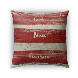 Kavka Designs red; ivory flag outdoor pillow by terri ellis with insert