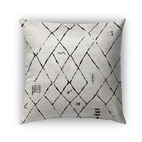 Kavka Designs ivory; black tori outdoor pillow by Kavka Designs