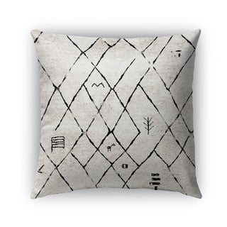 Kavka Designs ivory; black tori outdoor pillow by terri ellis with insert