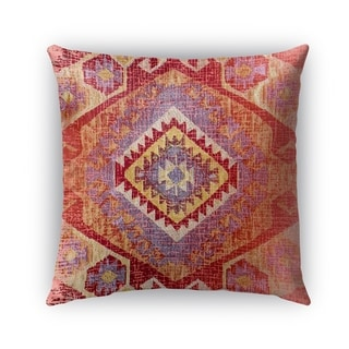 Kavka Designs red; orange; yellow tile outdoor pillow by terri ellis with insert