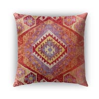 Kavka Designs red; orange; yellow tile outdoor pillow by terri ellis with insert