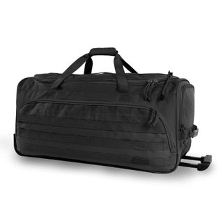 Highland Tactical Squad 30-inch Large Tactical Rolling Duffel Bag (Option: Black)