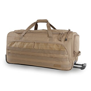 Highland Tactical Squad 30-inch Large Tactical Rolling Duffel Bag