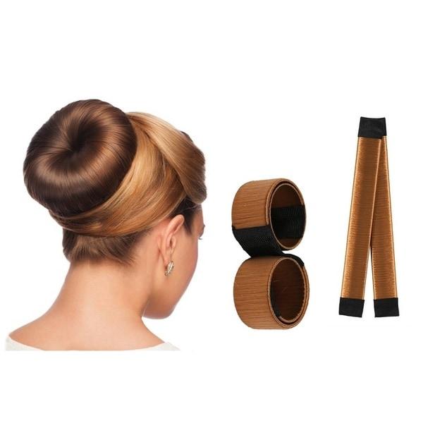 Shop Magic Hair 4 Piece Multi Color Bun Maker Free Shipping On