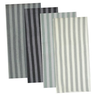 Grey Stripe Microfiber Dishcloth (Set of 8)