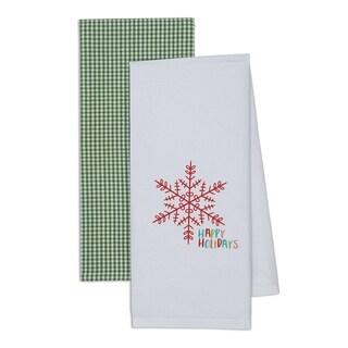 Happy Holidays Dishtowel (Set of 2)