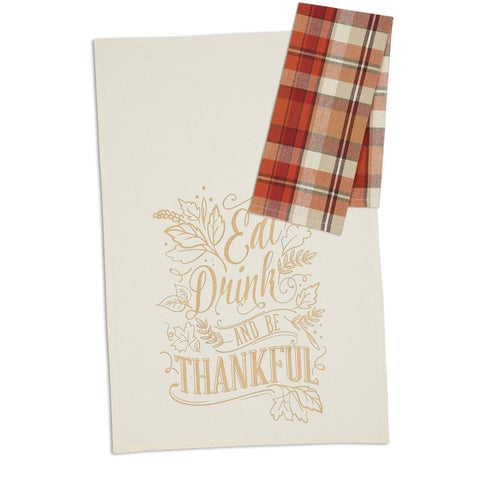Be Thankful Dishtowel (set of 4)