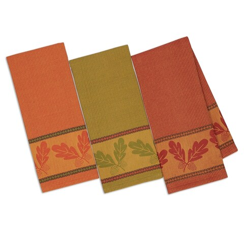 Autumn Acorn Jacquard Dishtowel(set of 3)
