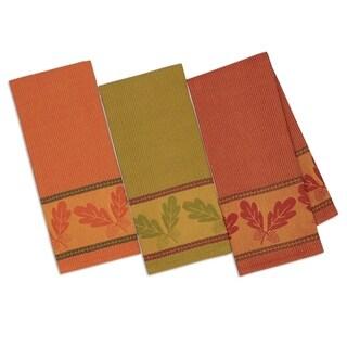 Autumn Acorn Jacquard Dishtowel(set of 3)