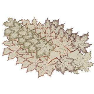 Maple Leaves Embroidered Placemat ( Set of 6)