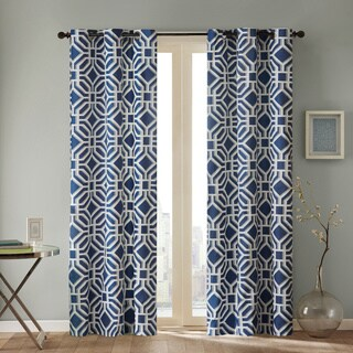 Intelligent Design Alana Geometric Print Curtain Panel (As Is Item)