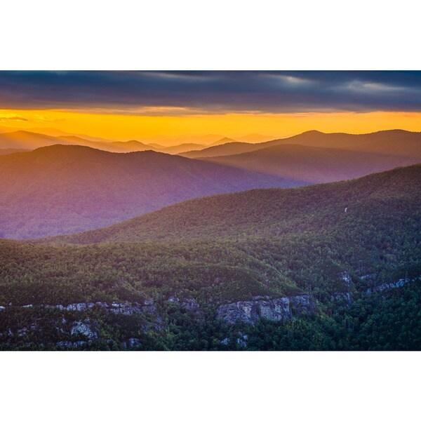 Noir Gallery Linville Gorge Sunset in Western North Carolina Fine Art Photo Print