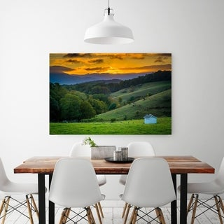 Noir Gallery Moses Cone Park Sunset on the Blue Ridge Parkway in North Carolina Fine Art Photo Print