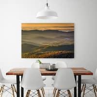 Noir Gallery Autumn Blue Ridge Mountains View in North Carolina Fine Art Photo Print