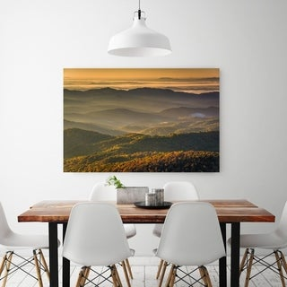 Noir Gallery Autumn Blue Ridge Mountains View in North Carolina Fine Art Photo Print