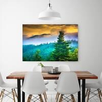 Noir Gallery Foggy Sunrise on the Blue Ridge Parkway in North Carolina Fine Art Photo Print