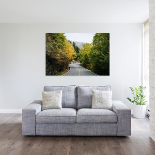 Noir Gallery Fall Color on a Road in Western North Carolina Fine Art Photo Print