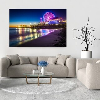Noir Gallery Santa Monica Pier at Night in California Fine Art Photo Print