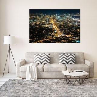 Noir Gallery Night View of San Francisco, California Fine Art Photo Print