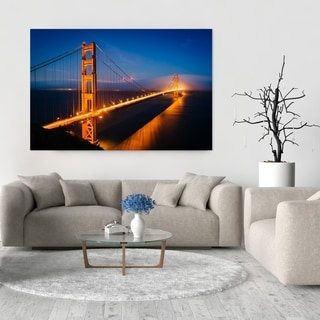 Noir Gallery Golden Gate Bridge at Night in San Francisco Fine Art Photo Print