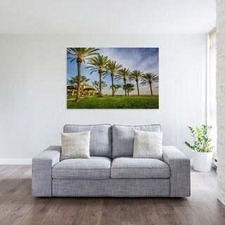 Noir Gallery Palm trees in Long Beach, California Fine Art Photo Print