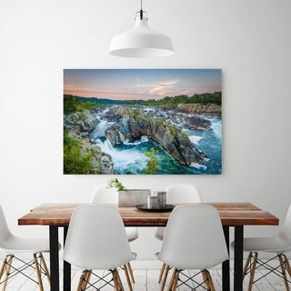 Noir Gallery Potomac River Great Falls at Sunset in Virginia Fine Art Photo Print (4 options available)