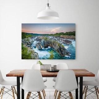 Noir Gallery Potomac River Great Falls at Sunset in Virginia Fine Art Photo Print