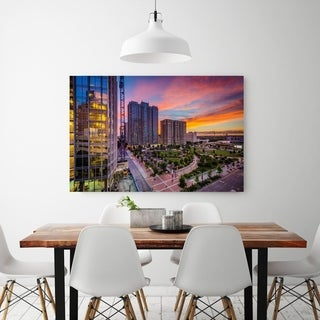 Noir Gallery Sunset Over Uptown Charlotte, North Carolina Fine Art Photo Print