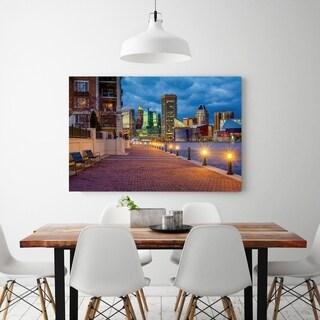 Noir Gallery Baltimore Inner Harbor Waterfront Promenade Fine Art Photo Print (4 options available)