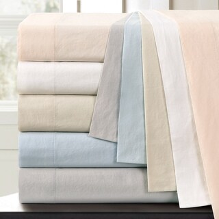 Vintage Washed Cotton Percale Duvet Cover Set