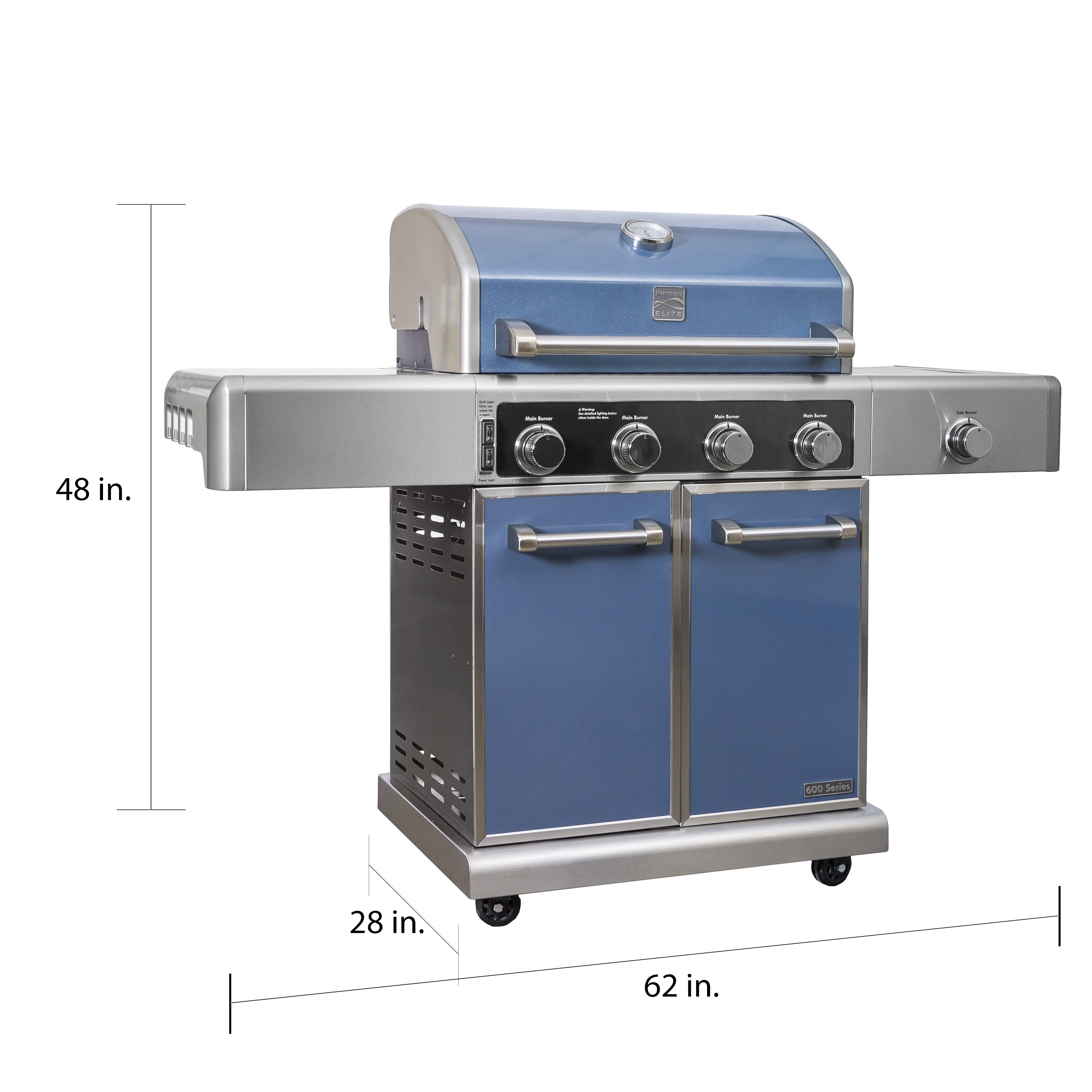 Gas Grill Cast-Iron Burner for Kenmore Elite 4 Pack