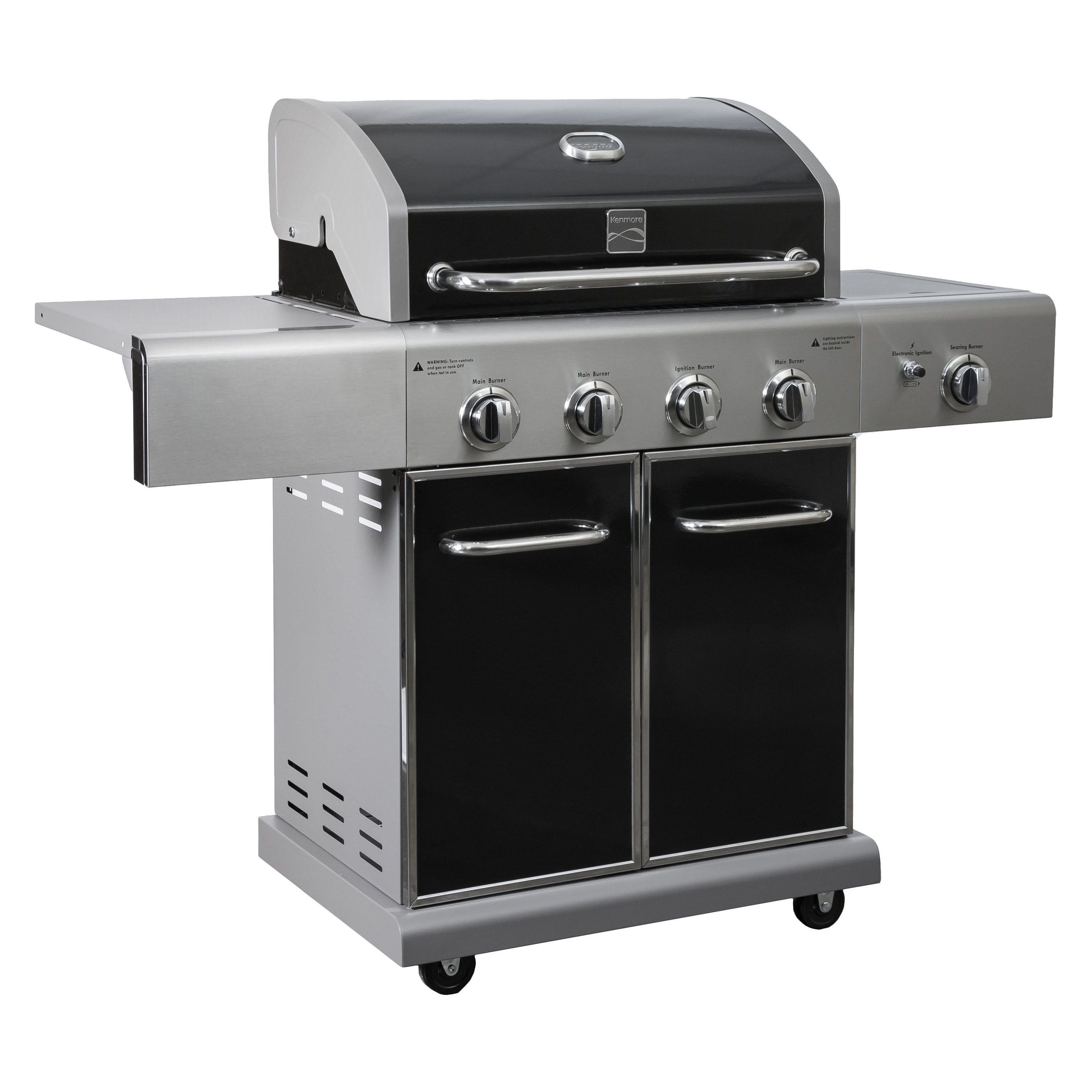 Kenmore 4 Burner plus Side Burner Grill, Black (Stainless...