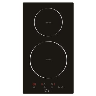 "Empava 12"" 2 Burners Tempered Glass Electric Induction Cooktop"