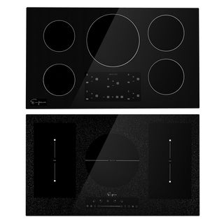 "Empava 36"" 5 Booster Burners Tempered Glass Electric Induction Cooktop EMPV-IDC36"
