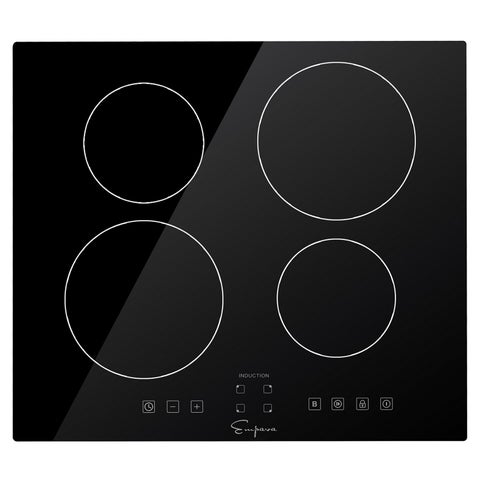 """Empava 24"""" 4 Booster Burners Tempered Glass Electric Induction Cooktop EMPV-IDC24"""