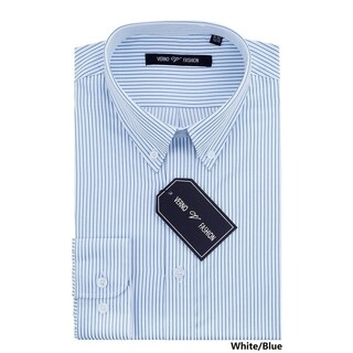 Verno Men's Slim Fit Dress Shirts with Stripes