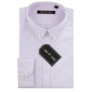 Verno Men's Slim Fit Dress Shirts with Plaid