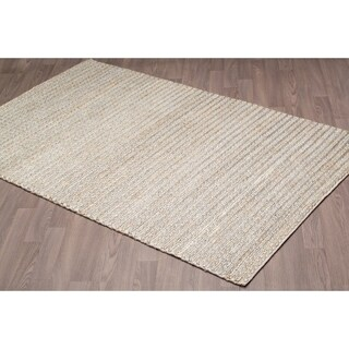 Hand-Knotted Silver Jute Rug - 5' x 8'