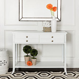 ABBYSON LIVING Antoni Antiqued White Console Table