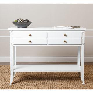 ABBYSON LIVING Antoni Antiqued White Console Table