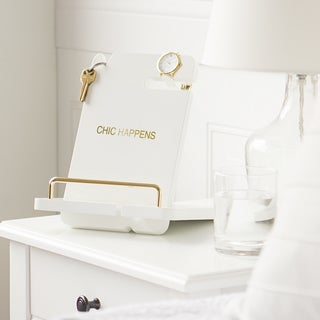 """Chic Happens"" White Lacquer Docking Station"