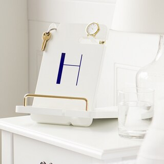 Personalized White Lacquer Docking Station