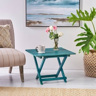 Idamae Solid Mango Wood Square End Table by Christopher Knight Home